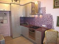 Отличная кухня Модерн с крашеными фасадами
