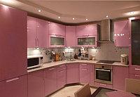 Крашеная кухня - насыщенный розовый