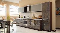 Кухня с крашеными фасадами - Мрамор