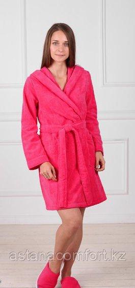 Махровый халат на запах с капюшоном. Россия