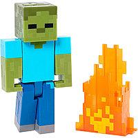 Minecraft Горящий Зомби (15 см)