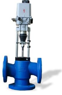 Седельный Трехходовой регулирующий клапан с электроприводом серии 100 КПСР 1-80-ХХХ