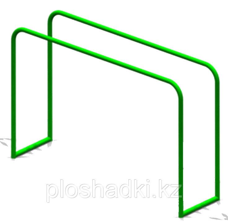 Брусья металлические целостные, зеленые