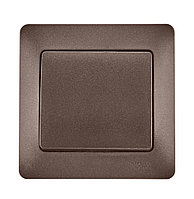 Выключатель 1-кл. GLOSSA шоколад SchE GSL000812