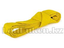 Пояс для кимоно 220 см желтый