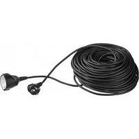 Удлинитель ЗУБР электрический, ПВС 3х1кв мм, черный, 1 гнездо, макс мощн 2200Вт, 20м