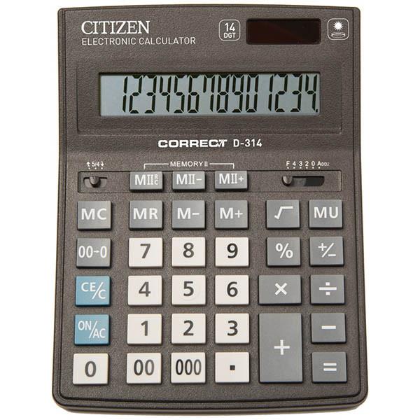 Калькулятор настольный Citizen Correct D, 14 разрядов, 155*205*28 мм.