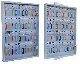 Ключница со стеклянной дверцей KЛС-40 на 40 ключей