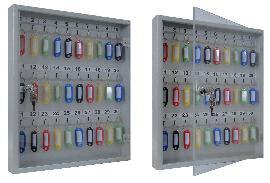 Ключница со стеклянной дверцей KЛС-30 на 30 ключей