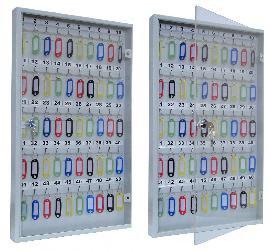 Ключница со стеклянной дверцей KЛС-50 на 50 ключей