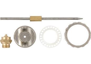 (57384) Ремкомплект для краскораспылителя 4 предмета : сопло 1,8 мм + игла + форсунка + зажим сопла//MATRIX