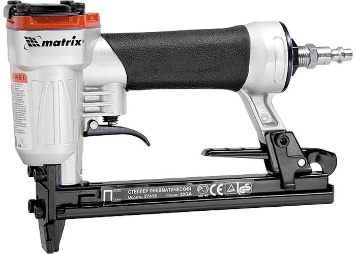 (57420) Степлер пневматический для прямоугольных скоб от 10 до 22 мм// MATRIX