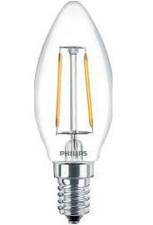 Филаментная лампа Philips LED Classic 2700k 4.5W «Свеча»