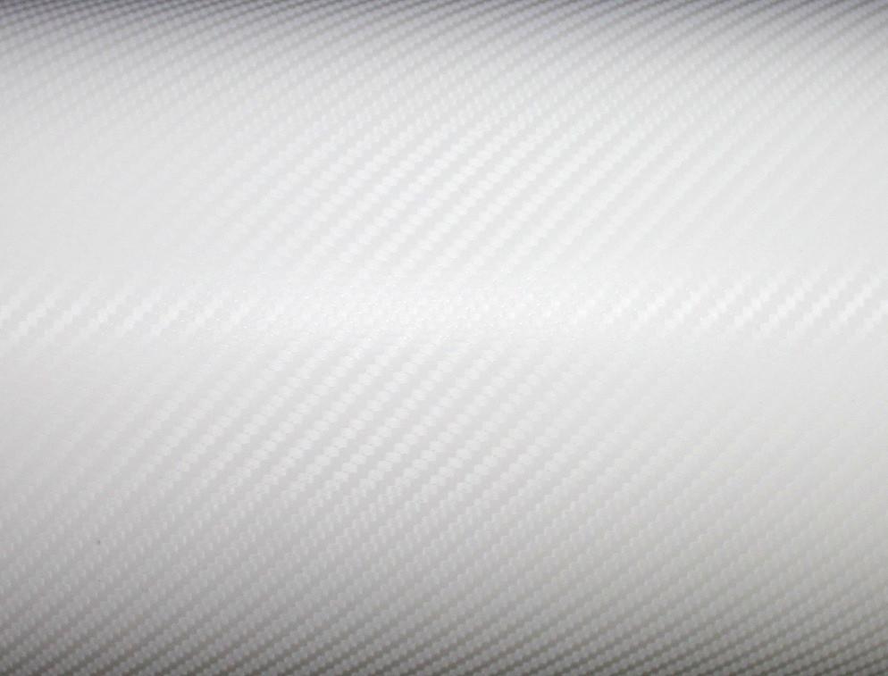 """Виниловая пленка под """"Карбон"""" (белая) 1,52м"""