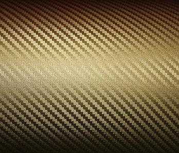 """Виниловая пленка под """"Карбон"""" (золотистая) 1,52м"""