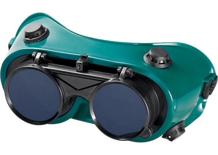 (89148) Очки газосварщика с откидными стеклами// MATRIX