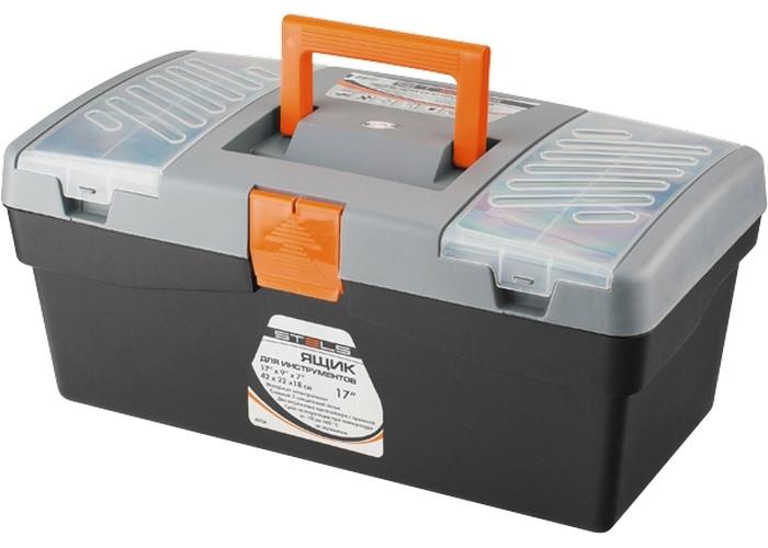 """(90704) Ящик для инструмента, 420 х 220 х 180 мм (17""""), пластик// STELS"""