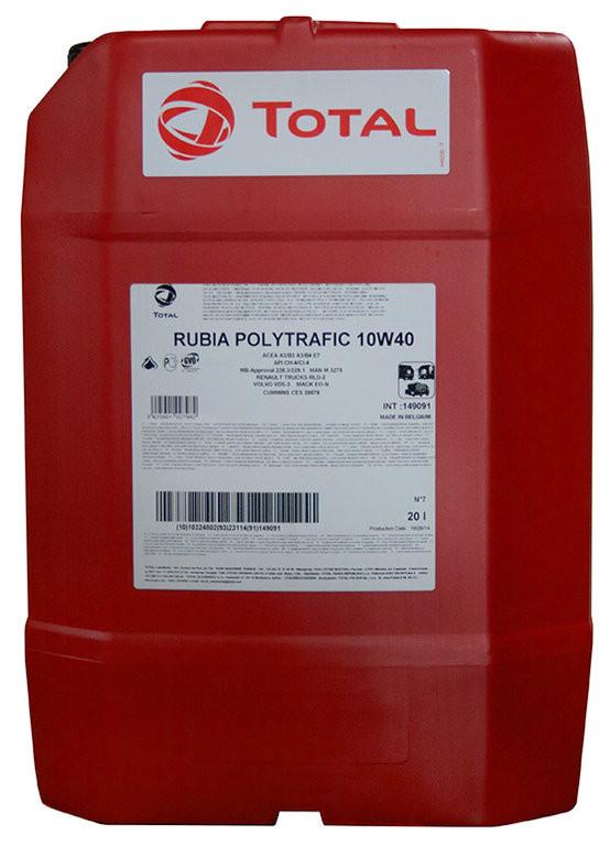 Total RUBIA POLYTRAFIC 10w40 Дизельное полусинтетическое масло 20л.