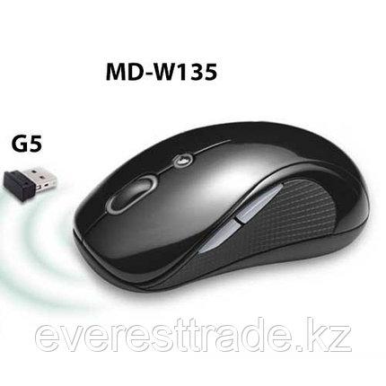 Мышь беспроводная KME MD-W135+G5 Black USB, фото 2