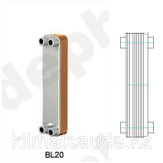 Теплообменник паяный Ditreex BL20-30D/2 (двухстороннее подключение)