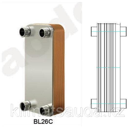 Теплообменник паяный Ditreex BL26C-50D/2 (двухстороннее подключение)