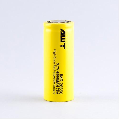 Аккумулятор AWT 26650 3.7V 4500MAH 75A