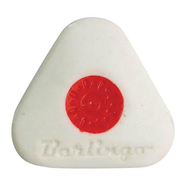Ластик Mega soft, треугольный, термопластичная резина, пластиковый держатель, 50*50*10 мм.