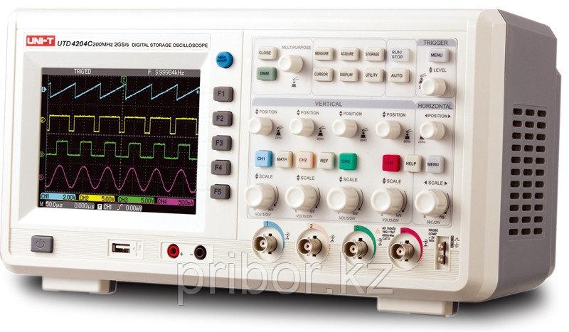 Осцилограф 200МГц, 4-х канальный UNI-T UTD4204C