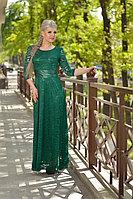 Нарядное гипюровое платье в пол