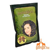 Хна для волос натуральная коричневая 100% Herbal Henna (IMPRESSION), 150 гр.