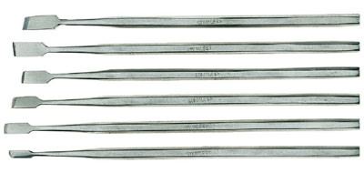 Стамески мини, ширина 3.5-6.5мм, длина 140мм, 6шт