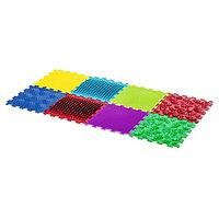 Детский массажный коврик, 8 модулей, 4 вида покрытия