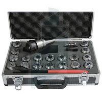 Цанговый патрон ISO 40 с комплектом цанг 18 шт. 3 - 20 мм