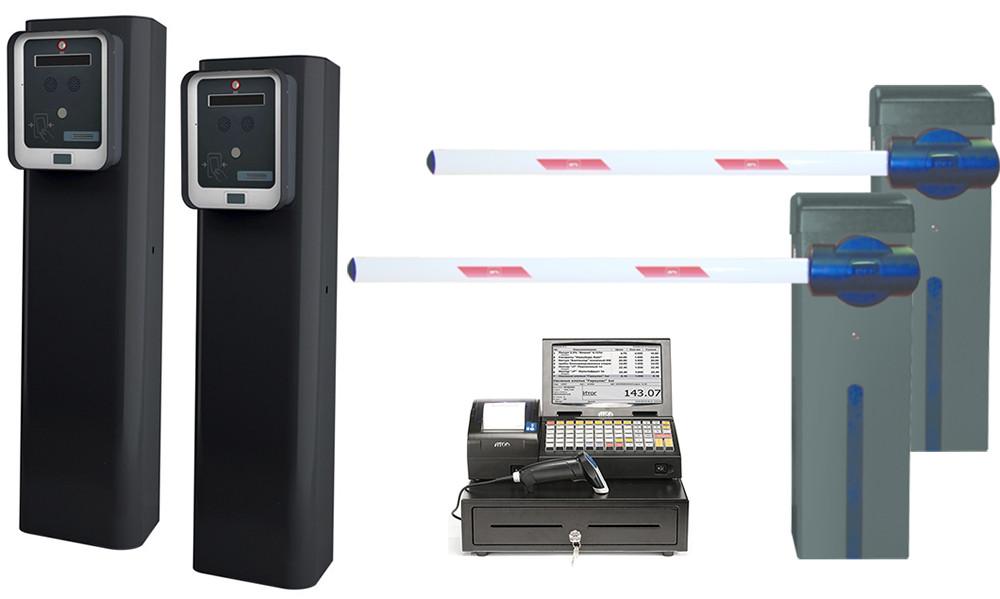 Автоматизация платных парковок и стоянок. Комплект платной парковки с кассиром ESPAS 20 кассир. BFT-Италия.