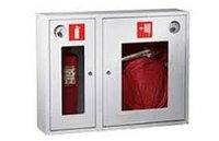 Шкаф пожарный белый ШПБ-315/02 (840*650*230) со стеклом