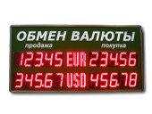 Уличные табло валют 5 разрядов