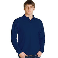 Поло рубашки с длинном рукавом Черная -Темно-синяя