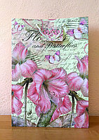"""Подарочный пакет """"Цветы и бабочки"""""""