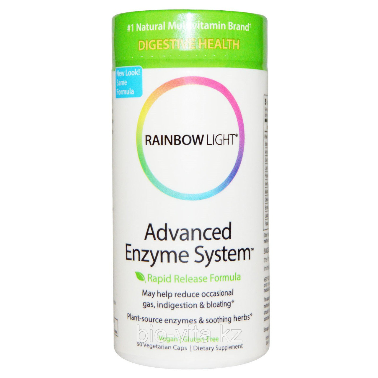 Rainbow Light, Дополнительные Ферменты Быстрого Высвобождения, 90 Капсул