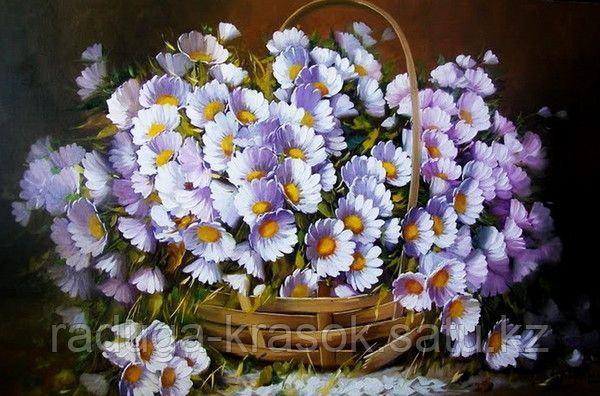"Картина по номерам ""Лукошко с ромашками"" (Jorge Maciel)"