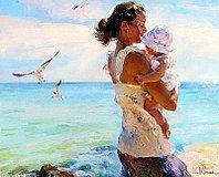 "Картина по номерам ""С мамой на прогулке"" под заказ 3 дня"