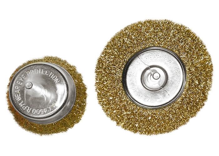 """(74480) Набор щеток для дрели, 2 шт., 1 плоская, 100 мм, + 1 """"чашка"""", 75 мм, со шпильками, мет. // MATRIX"""