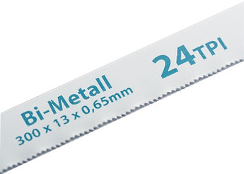(77729) Полотна для ножовки по металлу, 300 мм, 24TPI, BIM, 2 шт.// GROSS