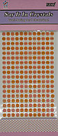 Стразы самоклеющиеся на листе (216 штук)