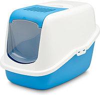 Био-Туалет для кошек Savic Nestor с фильтром (бело-голубой)