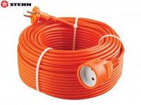 Удлинитель-шнур силовой, 2*1мм*30м, 1 прорезиненная розетка, 10A