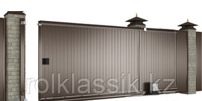 Ворота уличные 3500х2100 в алюминиевой раме с сэндвич панелями