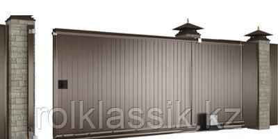 Ворота уличные 4000х2100 в алюминиевой раме с сэндвич панелями