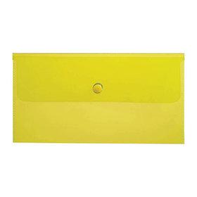Папка-конверт на кнопке C6, 180мкм, желтая