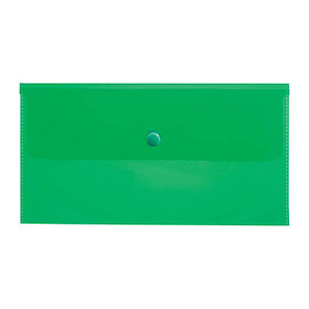 Папка-конверт на кнопке C6, 180мкм, зеленая